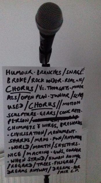 """City Consolation"" lyrics cribsheet"